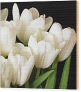 White Tulips 1 Wood Print