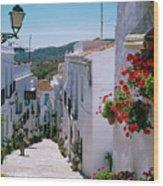 White Village Of Frigiliana Andalucia., Spain Wood Print