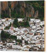White Village Of Ubrique Spain Wood Print