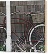 White Wall Tires Wood Print by Mg Blackstock