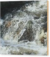 White Water Wood Print