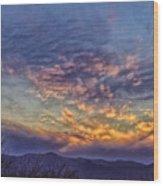 White Water Draw Sunset Wood Print