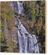White Water Falls Wood Print