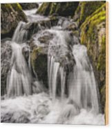 White Water Rapids Wood Print