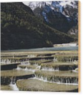 White Water River - Lijiang Wood Print