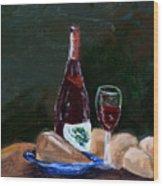 White Wine Wood Print