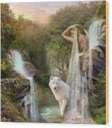 White Wolf Falls Wood Print