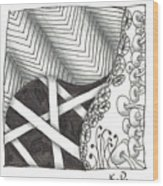 White Zen 21 Wood Print