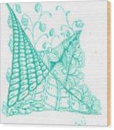 White Zen 26 Wood Print