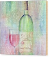 White Zinfandel Wood Print by Arline Wagner