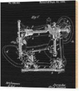 Whitehill Sewing Machine Patent 1885 Black Wood Print