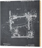Whitehill Sewing Machine Patent 1885 Chalk Wood Print