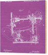 Whitehill Sewing Machine Patent 1885 Pink Wood Print