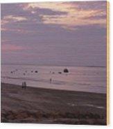 Whitehorse Beach - Sunset Wood Print