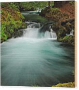 Whitehorse Falls 3 Wood Print