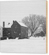 Whiteout At Strawbery Banke Wood Print