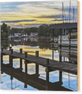 White's Cove Sunset Wood Print