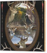 Whitetail Dreams Wood Print by Shane Bechler