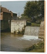 Whitewater Canal Locks Metamora Indiana Wood Print