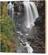 Whitewater Falls - Nc Wood Print