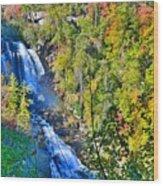Whitewater Falls North Carolina Wood Print