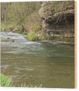 Whitewater River Spring 42 Wood Print