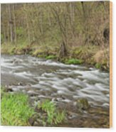 Whitewater River Spring 44 Wood Print