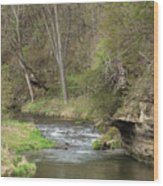 Whitewater River Spring 45 A Wood Print