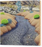 Whitewater Wood Print by Snake Jagger