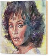 Whitney Houston Portrait Wood Print