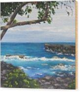 Whittington Beach Park Big Island Hawaii Wood Print