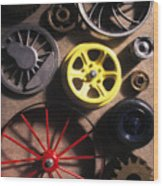 Who Invented The Wheel? Wood Print