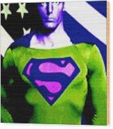 Who Is Superman Wood Print