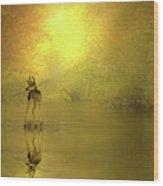 A Silent Autumn Morning Wood Print