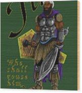 Who Shall Rouse Judah-yellow Trim Wood Print