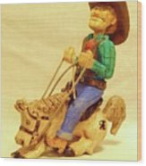 Whoa Horsey Wood Print