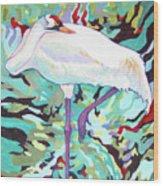 Whooping Crane Cynthia Wood Print