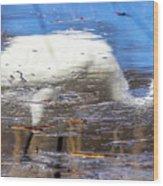 Whooping Crane Reflection Wood Print
