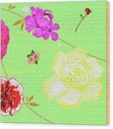 Whoosh Of Flowers Wood Print
