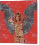 Whore Of Babylon By Mb Wood Print