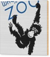 Who's Who In The Zoo - Wpa Wood Print