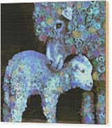Whose Little Lamb Are You? Wood Print