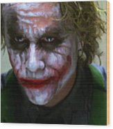Why So Serious Wood Print by Paul Tagliamonte