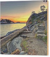 Whytecliff Park Sunset Wood Print