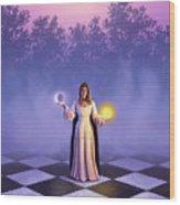 Wiccan Dawn Wood Print