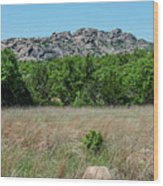 Wichita Mountains Wildlife Refuge - Oklahoma Wood Print