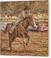 Wickenburg Senior Pro Rodeo Barrel Racing Wood Print