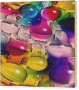 Wicker Marble Rainbow Fractal 2 Wood Print