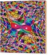 Wicker Marble Rainbow Fractal Wood Print