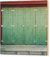Wide Barn Door Wood Print